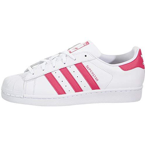 adidas Originals Superstar, Scarpe da Ginnastica, Colore: Bianco, Rosa Vero, 38 EU