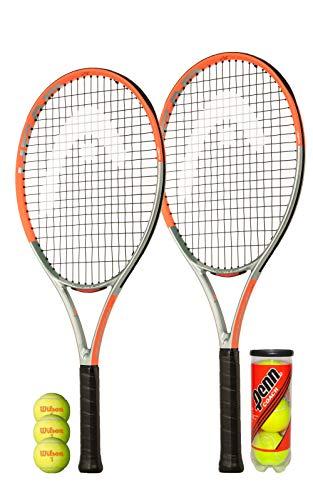 HEAD Radical 26 Graphite Junior Tennisschläger & 3 Stage 2 Tennisbälle