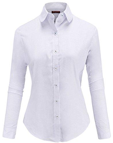 Dioufond – Chemise de travail Oxford à boutons pour femme - - 48