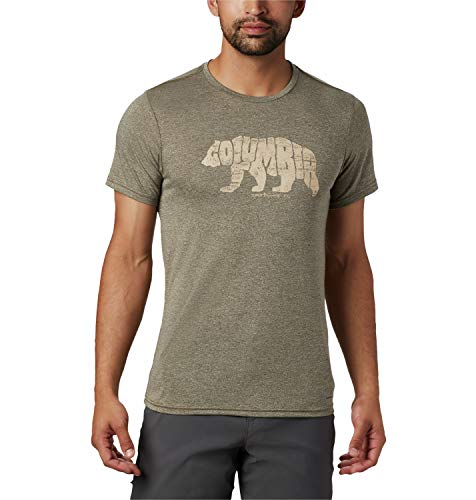 Columbia Terra Vale II Short Sleeve T-Shirt Homme New Olive Heath FR: 2XL (Taille Fabricant: XXL)