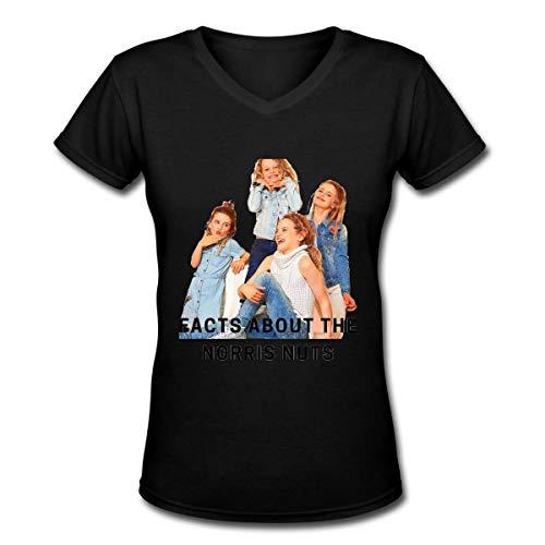 maichengxuan Norris Nuts - Camiseta de manga corta para mujer, ligera, 100% algodón, cuello en V