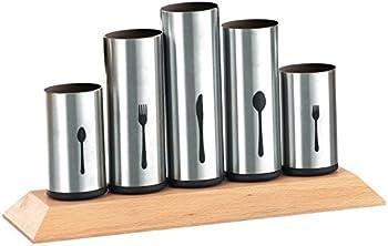 Bruntmor 18/8 Stainless Steel Flatware Organizer Holder Caddy