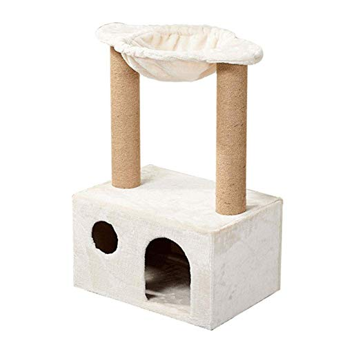 Cat climbing tower Cat Scratching Post with Hammock Tree Tower Pet Climbing Frame Thicken Flannelette Cat Cave Condo Simple Playhouse For Jumping Relaxing Scratching cat toys cat tower cat trees