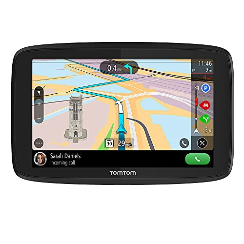 """TomTom GO Supreme 6"""" GPS Navigation Device with World Maps, Traffic and Speed Cam alerts thanks to TomTom Traffic, Updates via WiFi, Handsfree Calling, Click-and-Drive Mount"""