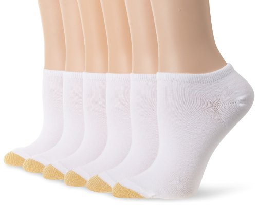 Gold Toe Women's 6 Pack Jersey Socks,White ,Shoe Size: 6-9