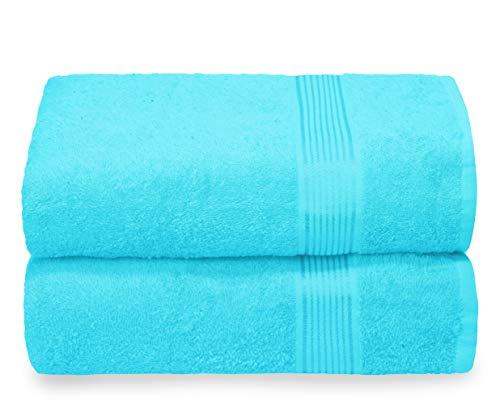 GLAMBURG Juego de 2 Toallas de baño de Gran tamaño de 70 x 140 cm, Toallas de baño Grandes, Ultra...