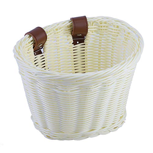 YMhoart Kids Bike Basket for Boys Girls, Front Toddler Tiny Tricycle Baskets Bike Accessories Small Scooter Arts and Crafts Bike Decoration accessorieskit for Girls