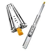 産業用 な引き出しスライド - 全延長ボールベアリング引き出しスライド、76mmの拡大金属引き出しランナー、キャビネット家具ハードウェアレール、RVの修正 (Color : Yellow, Size : 450mm(18 inch))