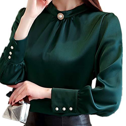 Frauen Shirts Top Solide Weibliche Chiffon Blusen