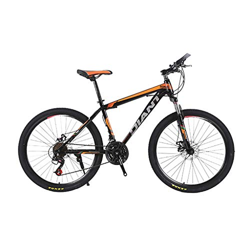 Check Out This LINKIOM Unfoldable Bicycle Mountain Bike 24 Inch Steel 21Speed Bike Double Disc Brake