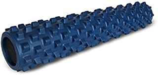 RumbleRoller - Full Size 31 Inches - Blue - Original - Textured Muscle Foam Roller - Relieve Sore Muscles- Your Own Portable Massage Therapist - Patented Foam Roller Technology