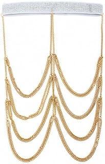Femnmas Designer Thigh Chain Full Leg Chain for Party & Girls (Gold)
