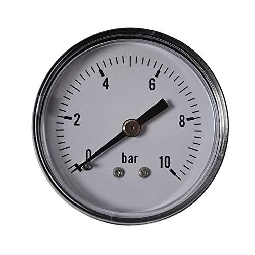 HELO 0-10 bar Manometer waagerecht, Ø 50 mm, Druckluft Manometer/Vakuummeter 1/4