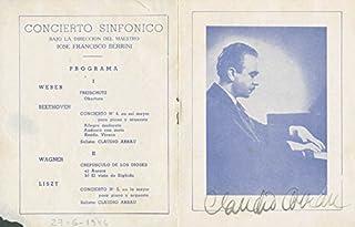 Claudio Arrau - Program Signed Circa 1946