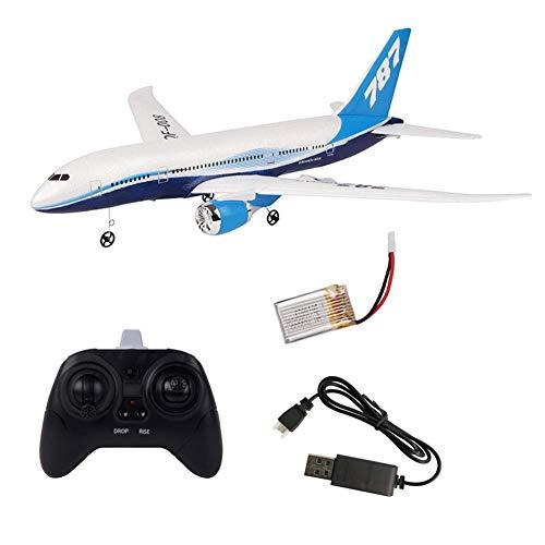 DIY RC Drohne Fernbedienung Segelflugzeug 3 Kanal 2.4G Hubschrauber Segelflugzeug Flugzeug Spielzeug Kit Boeing 787 Modell EPP Schaum Kit Outdoor das Geschenk für Kinder Anfänger