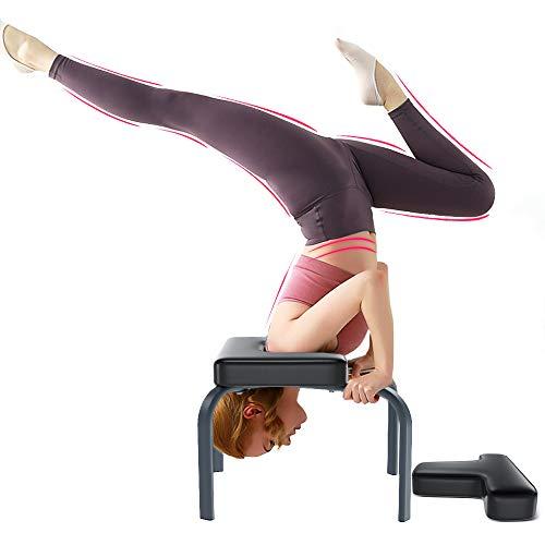 YOLEO Yoga Headstand Panca da Yoga Sgabello per Yoga Inversion Chair con PU e Tubo in Acciaio-Panca per Esercizi Sportivi Attrezzature per Il Fitness/Massimo 150kg
