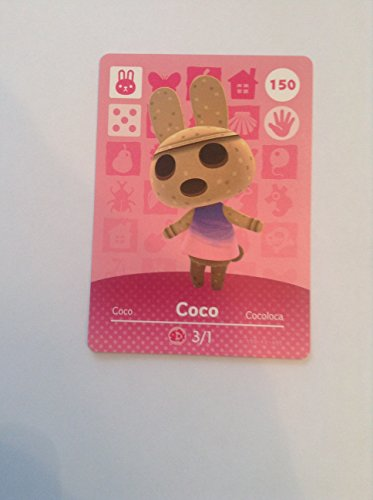 Nintendo Animal Crossing Happy Home Designer Amiibo Card Coco 150/200 USA Version