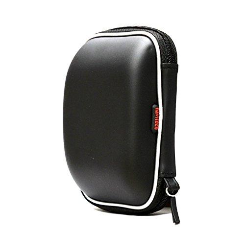 Navitech schwarz hartes Wasser-beständiges mp3 Musikabspielgerät Tasche / Hülle kompatibel mit dem Philips SA4RGA04BN/12 GoGear Raga 4gb
