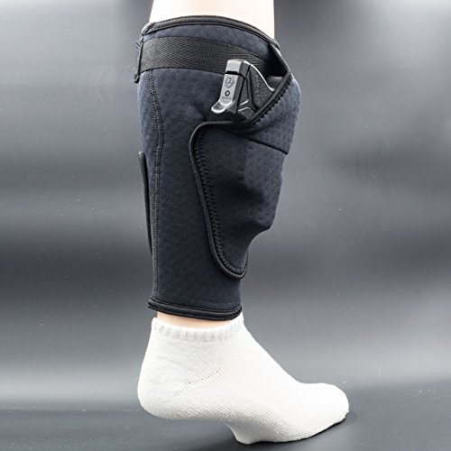 BUGBite Concealment Calf Holster, The Ultimate Concealed Carry Ankle Holster. Lightweight Breathable Neoprene Ankle Holster for Every Day Carry