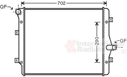 Van Wezel 58002208Ventilador, refrigeración del Motor