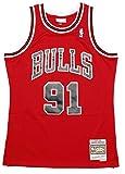 Mitchell & Ness Dennis Rodman #91 Chicago Bulls 1997-98 Swingman NBA Trikot Rot -