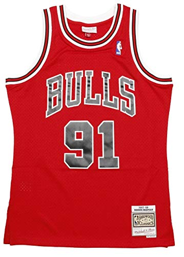 Mitchell & Ness Chicago Bulls Dennis Rodman Canotta Red