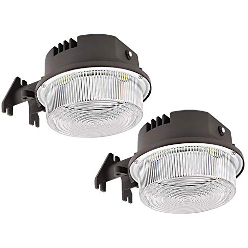 2-Pack LED Barn Light 50W, SZGMJIA 6500lm Dusk to Dawn Yard Lighting with Photocell,CREE LED 5000K...