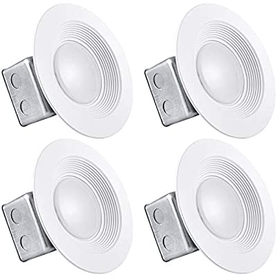 Luxrite 5/6 Inch LED Recessed Light with Junction Box, 15W, 2700K Warm White, Dimmable Airtight Downlight, 1000 Lumens, Energy Star, IC & Wet Rated, 120V - 277V, Recessed Lighting Kit