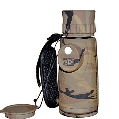 Monoculars Compass Reticle Waterproof and Anti-fog High Power HD Easy to Carry Folding Eye Cup Shockproof