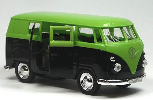 generisch VW Bus (1963) Bulli T1 neon grün / schwarz Modellauto 1:37 von Welly Neuware