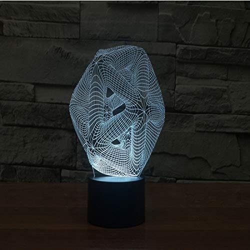 Yyhmkb Led Pizarra Luz Colores Flexible Luz Con Sensor De Movimiento Mini Círculo Bola 3D Luz Colorida Carga Táctil Led Luz Visual Regalo Celebración Lámpara De Mesa