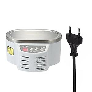 KKmoon - Limpiador de ultrasonidos, 600 ml, para limpiar joyas, relojes, gafas, CD, dientes, discos, etc.