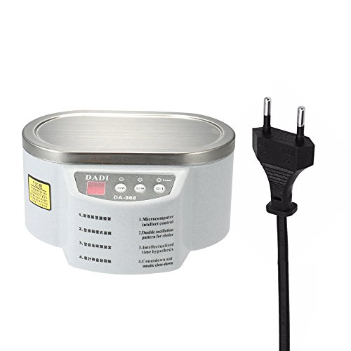 KKmoon 600ML Display Digitale Pulitore ad Ultrasuoni Macchina di Sterilizzazione per Pulire Gioelli, Orologi, Occhiali, CD, Dentiere, Dischi ecc