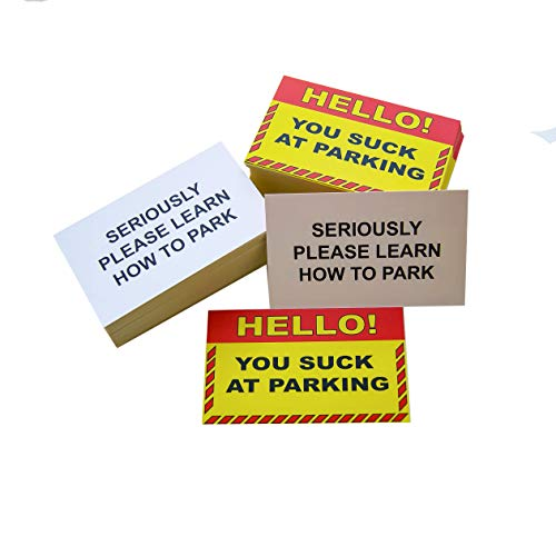 RXBC2011 Bad Parking Cards Gag Gifts for Bad Parking You suck at Parking Business Cards (Pack of 100) Photo #4