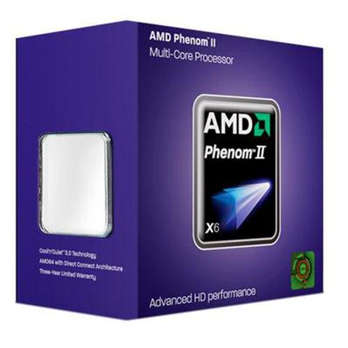 AMD HDT55TFBGRBOX - Procesador AM3 Phenom II X6 1055T con tecnología Turbo Core (Incluye Ventilador)