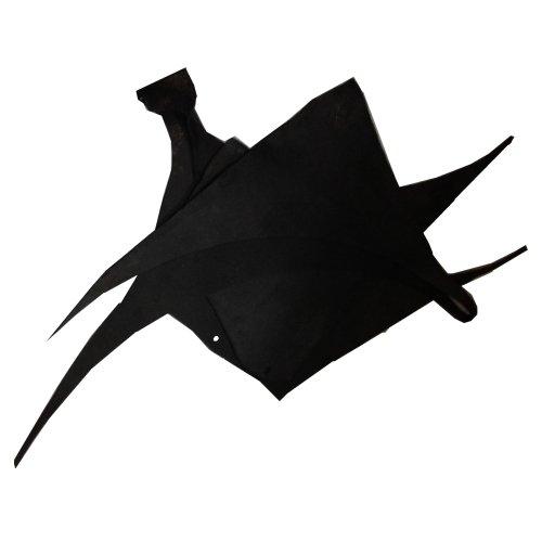 Lederreste Sortiert, 1000 g - Fettleder schwarz
