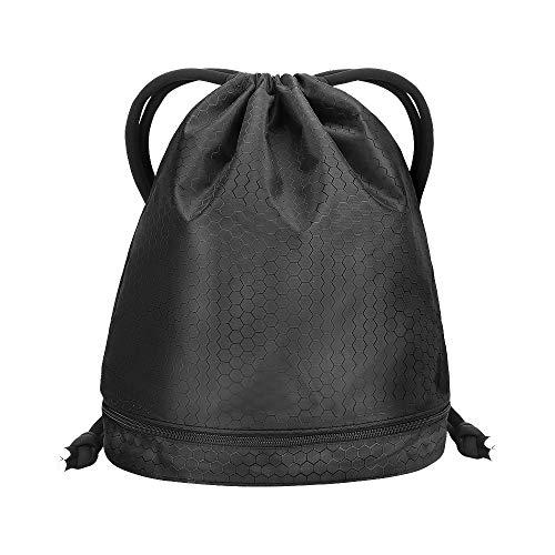 Drawstring Gym Bag, CestMall Unisex Waterproof Drawstring Sport Bag, Dry and Wet Bag...