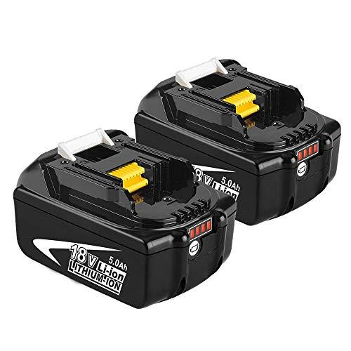 Moticett 2X BL1850B 18V 5.0Ah Sostituzione Batteria per Makita 18V BL1850 BL1860B...