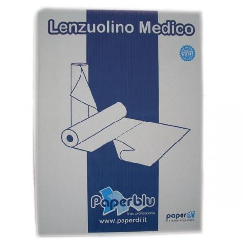 Farmac Zabban 2200770000 Rotoli per Lettino, Rulli in Carta, 70 m x 60 cm a Doppio Velo, 6 Pezzi, Bianco