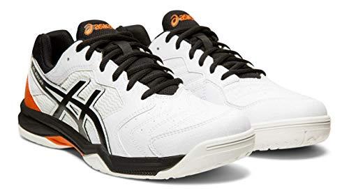 ASICS Gel-Dedicate 6 Men's Tennis Shoes, White/Black, 11 M US