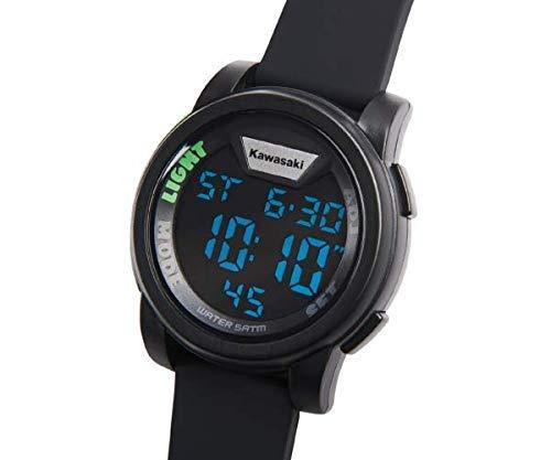 Kawasaki Silikon Armbanduhr schwarz