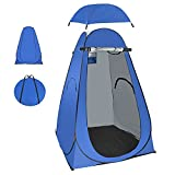 BOTINDO Pop Up Privacy Shower Tent, 6.3FT Portable Changing Dressing Toilet Room,Outdoor Sun Camp Rain Shelter for Camping Biking Beac with Carry Bag