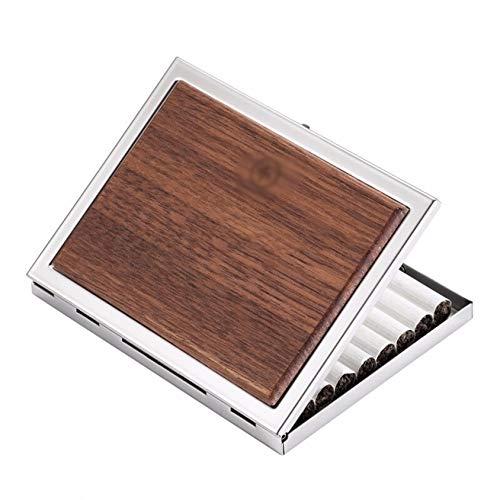 ZXCV Cigarrillo, Metal, Acero Inoxidable, Tabaco, Caja Delgada, Cigarrillo Ultradelgado para Hombres