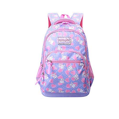 WiaLx Impermeabile Zaino dei Bambini Sacchetti di Scuola Stampa Zaino Satchel per Studenti delle scuole primarie per Le Ragazze Sacchetto di Scuola per Bambini Impermeabili Preppy Schoolbag