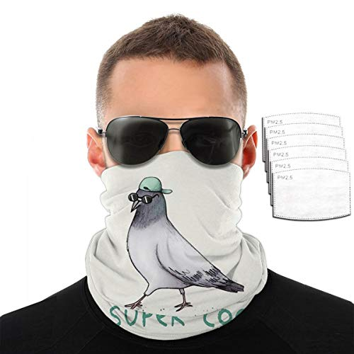 Super Coo Pigeon Men Women With 6 Filter Face Cover Bandana Balaclava