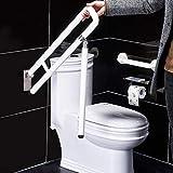 Wandstützgriff Stützhilfe Dusche WC Griff Aufstehhilfe Toiletten Stütz-Haltegriff Klappgriff Sicherheit Rutschfest Wandmontage Weiß - 4