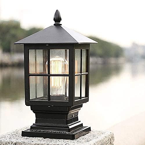 ZGGYA Paisaje De Aluminio Cuadrado Luz De Pilar Exterior Impermeable Lámpara De...