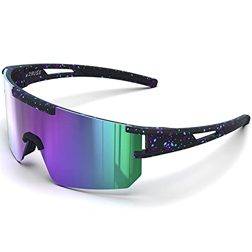 G2RISE Polarized Sunglasses for Men Women - Rayban Trendy Sunglasses with UV Protection for Driving & Fishing Cycling Running Sports (Purple)