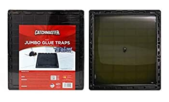 Catchmaster Large Jumbo Size Rat Mouse Rodent Snake & Insect Glue Traps - Pack of 6 Trays