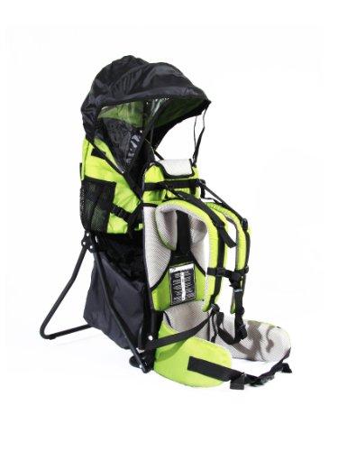 FA Sports Lil'Boss Siège portable pour enfant pour extérieur avec protection contre le soleil, 50 x 38 x 90 cm, Vert/gris/noir